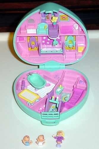 Bluebird 1994 Polly Pocket Babytime Fun COMPLETE!