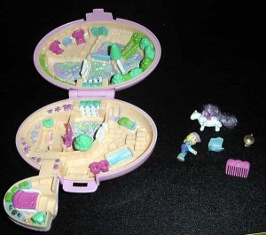 Bluebird 1995 Polly Pocket Shetland Pony Stable COMPLETE