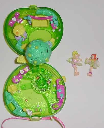 Bluebird 2000 Polly Pocket Fruit Apple Surprise COMPLETE