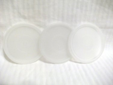 """3 Vintage Tupperware Replacement Seals G Sheer #297 Tupper Seal 2 3/4"""" Round Lid"""