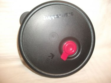 """Tupperware BLACK Replacement Seal Cover Lid Vent 6437A-4 Round 6"""""""