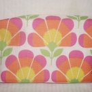 Clinique Linen Like Cotton Floral Large Cosmetic Makeup Bag Clutch