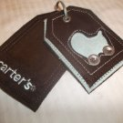 Carter's Brown & Aqua Blue ID Tags