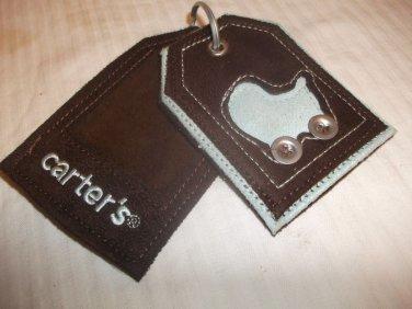 Carter's Brown & Aqua Blue ID Tags
