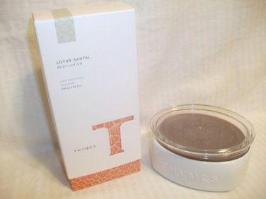 Lot Thymes LOTUS SANTAL Lotion 9.25oz & LOTUS SANTAL Milled Soap 7oz NEW
