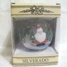 SILVERADO Blown Glass Christmas Ornament Hand Painted Santa in Snow