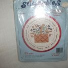 HERB BASKET 7584 Dimensions Stitchables vintage 80s Crewel embroidery kit new