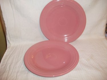 2 Homer Laughlin Fiesta Bread Plates ROSE PINK Genuine USA Lead Free Limited