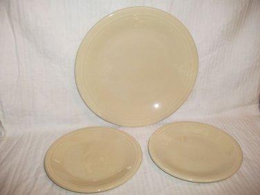 3 Homer Laughlin Fiesta Plates 10.5 & 7.25 Tan Genuine USA Lead Free
