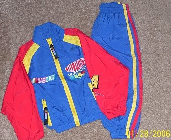 Boys Nascar Windsuit  -  Like New