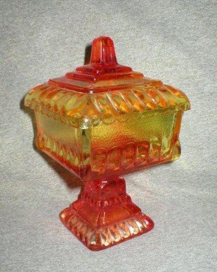 Jeannette Vintage Amberina Compote Wedding Dish