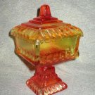 Jeannette Vintage Amberina Compote Wedding Dish