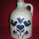 Clinton China Heavy Stoneware Blue Floral Cider Jug