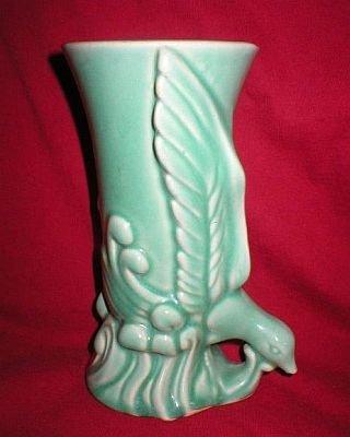 Morton Pottery 1950's Exotic Bird Flower Vase