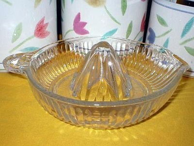 Hazel Atlas Vintage Clear Glass Citrus Juicer Reamer