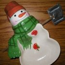 Hallmark Max From Mitford Ceramic Snowman Candy Dish