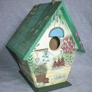 Decorative Green Hand Crafted Indoor Bird House