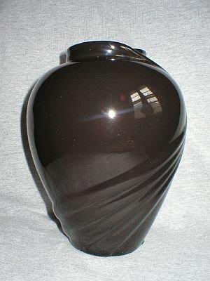 Haeger Classic Art Pottery Black Swirl Flower Vase