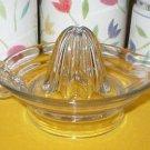 Rare Vintage Clear Glass Citrus Juicer Reamer