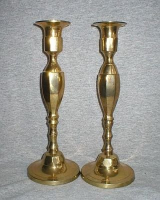 India Vintage Solid Brass Candle Holder Candlesticks