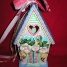 Decorative Ceramic Bird House Votive Candle Holder