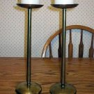 Extra Tall Solid Brass Modern Pillar Candle Holders