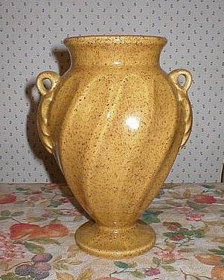 Haeger Two Handled Art Pottery Gold Trophy Vase
