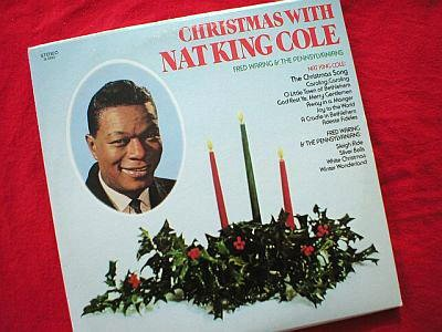 Christmas With Nat King Cole Vintage LP Record