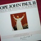 Pope John Paul II Sings At Sacrosong LP Record