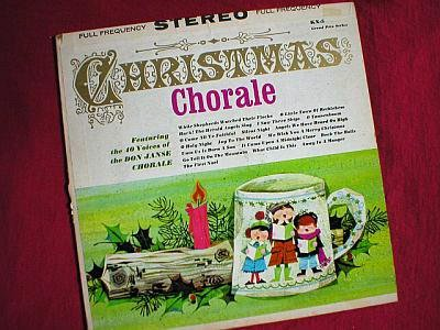 Christmas Choral Vintage 1960's Don Janse LP Record