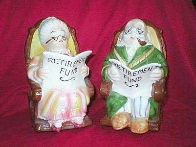 Grandma & Grandpa Rocking Chair Savings Banks