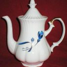 Flower Duet Japanese White Porcelain Coffee Pot