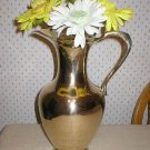 Vintage Solid Brass Beverage Pitcher or Vase