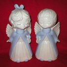 Cute Boy & Girl Porcelain Angel Figurines