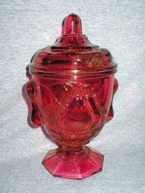 Imperial Glass Ruby Red Baltimore Pear Candy Dish