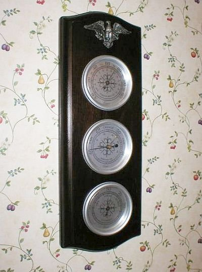 Cooper Wall Mount Barometer Thermometer Humidistat