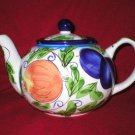 Zrike Amalfi Art Pottery Multi-Fruit Tea Pot Teapot