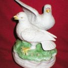 Dove Love Birds Porcelain Music Box Figurine