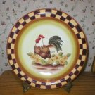 Country Folk Art Chicken Rooster Hen Dinner Plate