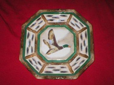 Hand Painted Wild Duck Folk Art Dinner Display Plate