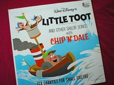 Disney's Little Toot Chip N Dale Vinyl LP Record