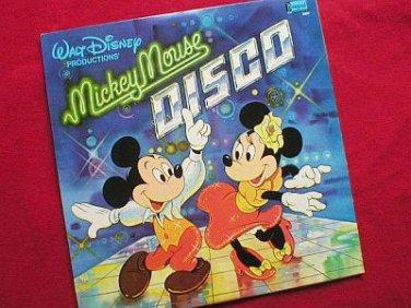 Disney's Mickey Mouse Disco 1979 Vinyl LP Record