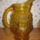Anchor Hocking Vintage Rain Flower Water Pitcher