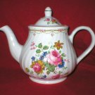 Arthur Wood & Son Pink Rose English Porcelain Teapot