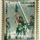 Two 9/11 Commemorative USPS Firefighter Pins