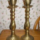 Large Swirl Twist Brass Candle Holder Candlesticks