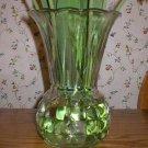 Vintage Clear Glass Ribbed Fluted Flower Vase