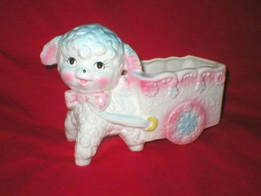 Ardco Vintage Baby Lamb Pull Cart Pot Planter