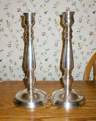 Extra Large Silver Plated Candle Holder Candlesticks