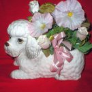 Relpo Vintage Japanese Poodle Dog Pot Planter